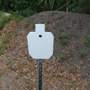 AR500 1/2 Ipsc t post angled target